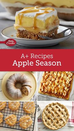 When apple season is in full swing theres nothing better than a fresh baked dessert to warm your house perfume the air and of course fill bellies. From easy quick treats to our tried-and-true classics these are the recipes you need for apple season. Best Apple Desserts, Apple Deserts, Just Desserts, Delicious Desserts, Yummy Food, Fruit Recipes, Apple Recipes, Fall Recipes, Holiday Recipes