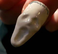 Nails, acrylic nail art, Halloween.