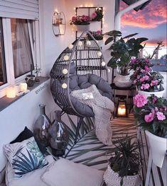 Small Balcony Design, Small Balcony Decor, Balcony Ideas, Apartment Balcony Decorating, Apartment Balconies, Cozy House, Living Room Decor, Diy Home Decor, House Design