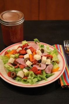 Pizza Salad- Quick and Easy Dinner