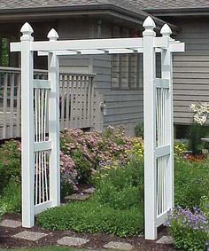 "Courtyard Arbor, White, 90""H"