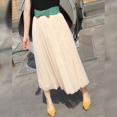 NEW Claire Soft Tulle Skirt in Ivory, Beige, Blush Black and other colors / Layered Below Knee Princess Tutu / Everyday Lace Skirt