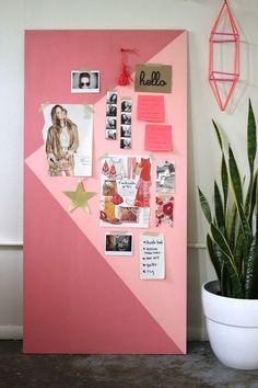 coole bastelideen zimmer-maedchen-pink-mdf-platte-goldene-akzente