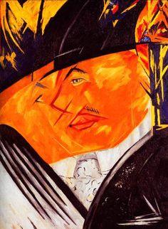 Гончарова Н.С. «Портрет Ларионова» 1913 г. Холст, масло. Museum Ludwig, Cologne, Германия.
