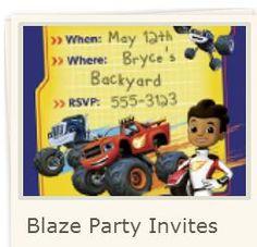 Blaze: Invitaciones para Imprimir Gratis.