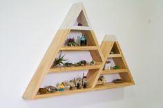 snowy mountain triangle shelf