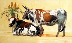 'Red earth' oil on canvas, x Bull Painting, Cattle Drive, Succulent Wall Art, Happy Cow, Cow Art, Name Art, Longhorns, Bird Drawings, Stencil Art