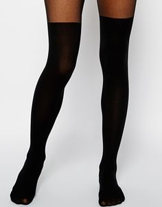 ASOS Mock Over The Knee Tights With Bum And Tum Support