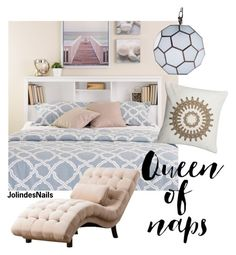 """Queen of naps"" by jolindesnails ❤ liked on Polyvore featuring interior, interiors, interior design, home, home decor, interior decorating, WALL, Abbyson Living, Worlds Away and Blue"