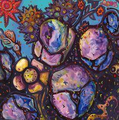 One Desert Day - Contemporary art, abstract art, painting, acrylic painting, Arizona contemporary artist Veronica Escudero