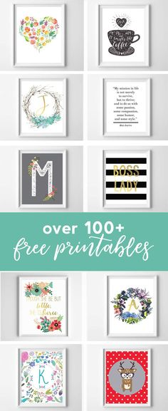 free printables | printable wall art | inexpensive wall art | printable art | free printables for home | nursery wall art