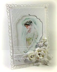 so romantic wedding card spellbinders Wedding Anniversary Cards, Wedding Cards, Happy Anniversary, Paper Art, Paper Crafts, Spellbinders Cards, Creative Cards, Vintage Cards, Homemade Cards