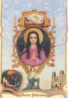St. Philomena Catholic Prayers, Catholic Saints, Roman Catholic, Religious Pictures, Religious Art, Saint Philomena, Catherine Of Alexandria, All Saints Day, Mary And Jesus