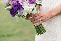 Purple Wedding Arrangements, Country Club Wedding, Table Decorations, Dinner Table Decorations