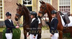 Luxury show jackets for horse riding competitions Show Jackets, Horse Riding, Equestrian, Photo Ideas, Competition, Horses, Outfits, Shopping, Lush