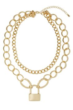 Lock Up Necklace   Shop Accessories at Nasty Gal