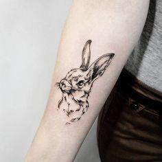 Rabbit Tattoo by Irina Doroshenko
