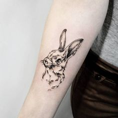 Rabbit Tattoo by Irina Doroshenko