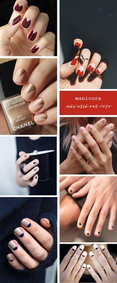 Manicuras que sí nos haríamos, ¿hay algo más allá de las uñas rojas? Gel Nails, Nail Polish, Beauty Trends, Nails Inspiration, Nail Art Designs, Make Up, Fantasy, Face, Style