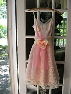 SAMPLE SALE Pink cupcake dress Bridesmaid dress by LilyWhitepad