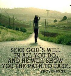 Seek God's Will........