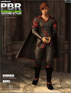 OOT PBR Texture Styles for Bard Outfit | Clothing for Poser and Daz Studio
