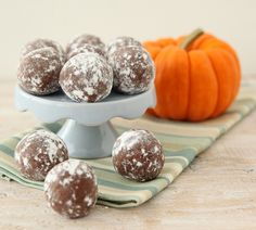 "These easy, no-bake ""Boozy Pumpkin Truffles"" have just enough liqueur to make each bite a real treat!"