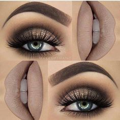 Hottest Eye Makeup Looks – Makeup Trends Gorgeous! Gold and Brown Glittery Style with False Lashes. 10 Hottest Eye Makeup Looks – Makeup TrendsGorgeous! Gold and Brown Glittery Style with False Lashes. 10 Hottest Eye Makeup Looks – Makeup Trends Smoky Eye Makeup Tutorial, Smokey Eye Makeup, Eyeshadow Makeup, Eyeshadows, Eyeshadow Palette, Pink Eyeshadow, Lip Makeup, Makeup Brushes, Makeup Geek