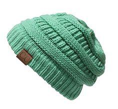 20a63bd524a0c Thick Slouchy Knit Unisex Beanie Cap Hat