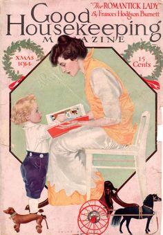 Coles Phillips - Good Housekeeping Magazine cover (Xmas 1914)