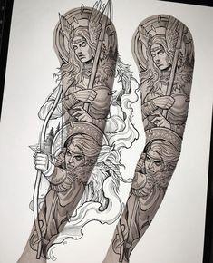 Viking Tattoo Sleeve, Viking Tattoos, Sleeve Tattoos, Cool Forearm Tattoos, Cool Tattoos, Tatoos, Archer Tattoo, Greek Drawing, Ozzy Tattoo