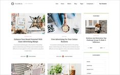 10. Floria – Creative Website Template Blog Websites, Magazine Website, Grid Layouts, Free Advertising, Portfolio Website, Web Design Inspiration, Tool Design, Website Template, Free Design