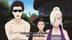 Ino Yamanaka, Shino Aburame, & Shikamaru Nara