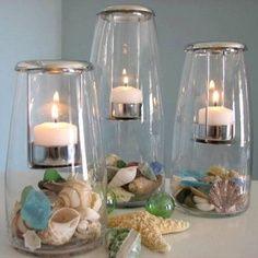 beach wedding centerpieces diy - Google Search