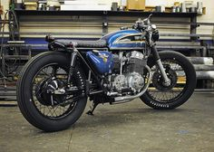 1975 Honda CB 750 brat style cafe racer. Mike Salek has photos of the before&after on his Flickr.