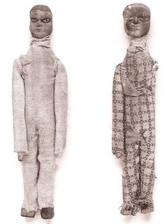 Arthur's Seat coffins - figurine clothing and stitching