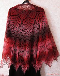 Ravelry: Project Gallery for Alberta Shawl pattern by Anne-Lise Maigaard Knitted Shawls, Crochet Scarves, Crochet Shawl, Crochet Lace, Crochet Stitches, Crochet Skull Patterns, Lace Knitting Patterns, Knitting Socks, Baby Knitting