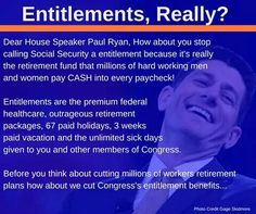 how about you get the same Medicare Package Seniors have to pay for...