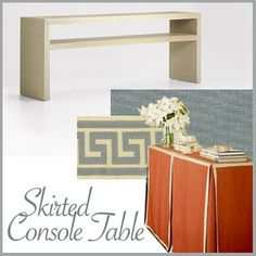 """Want my skirted sideboard to have panels like this. """"box pleat"""""""