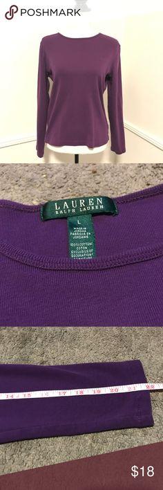 Lauren Ralph Lauren long sleeve 100% cotton top Purple Lauren Ralph Lauren long sleeve 100% cotton top Lauren Ralph Lauren Tops Tees - Long Sleeve