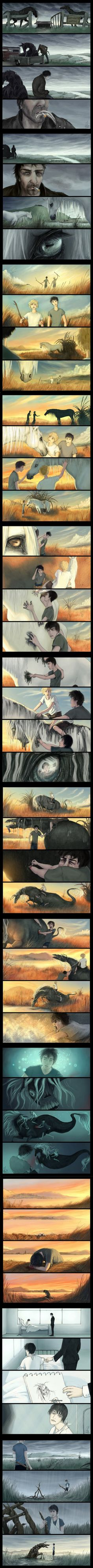 love this comic ... Kelpies: Scottish death horses