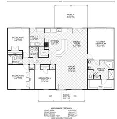 Bowie is a floor plan by custom home builder Southwest Homes for our new homes in Arkansas and Texas. Barn Homes Floor Plans, Metal House Plans, Mobile Home Floor Plans, Barndominium Floor Plans, Pole Barn House Plans, Pole Barn Homes, Ranch House Plans, New House Plans, Dream House Plans