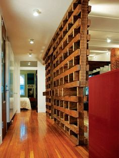 Pallet Wall-great for studio aptmt
