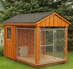 The Dog Kennel Collection specializes in dog houses of all sizes & colors, available in Lancaster County. Visit our site for more large dog houses! Canis, Outside Dogs, Dog Pens Outside, Dog House Plans, House Dog, Dog House With Ac, Luxury Dog House, Large Dog House, Dog Rooms