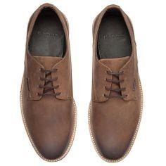 Buy Barbour Cottam Leather Derby Shoes, Dark Tan Online at johnlewis.com