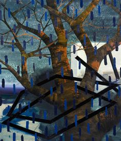 """2015 32""""x38"""" Oil, acrylic, and collage on canvas."""