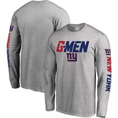 1528d00c071 New York Giants NFL Pro Line Hometown Collection Long Sleeve T-Shirt -  Heather Gray