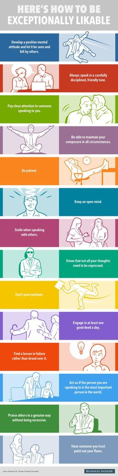 Habits of Exceptionally Likable People | Infographic...
