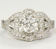 Best Vintage Engagement Ring Designs | http://bestideasnet.com/best-vintage-engagement-ring-designs.html
