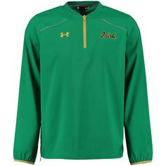 Notre Dame Fighting Irish Under Armour Long Sleeve Performance Cage Jacket - Kelly Green
